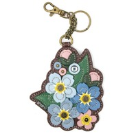 Chala Flower Garden Bouquet Whimsical Key Chain Coin Purse Bag Fob Charm