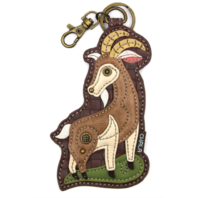 Chala Goat Puppy Dog Whimsical Key Chain Coin Purse Bag Fob Charm