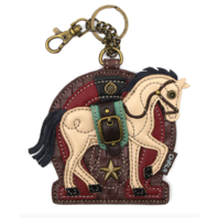 Chala Equestrian Horse Riding Whimsical Key Chain Coin Purse Bag Fob Charm