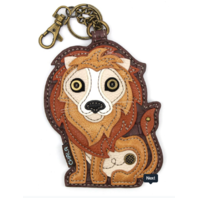 Chala The Lovely Lion Whimsical Key Chain Coin Purse Bag Fob Charm