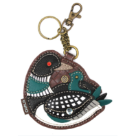 Chala Loon Bird Duck with Chic Whimsical Key Chain Coin Purse Bag Fob Charm