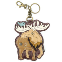 Chala The Mighty Moose Whimsical Key Chain Coin Purse Bag Fob Charm