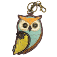 Chala Owl Bird Whimsical Key Chain Coin Purse Bag Fob Charm