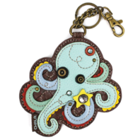 Chala Octopus Whimsical Key Chain Coin Purse Bag Fob Charm