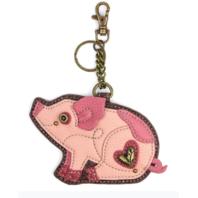 Chala Pink Piglet Pig Whimsical Key Chain Coin Purse Bag Fob Charm