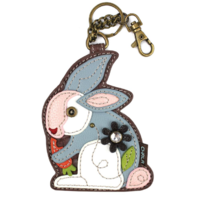 Chala Bitty Bunny Rabbit Whimsical Key Chain Coin Purse Bag Fob Charm