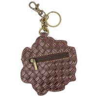 Chala Soft Pink Rose Flower Whimsical Key Chain Coin Purse Bag Fob Charm