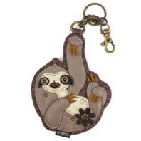 Chala Sloth Whimsical Key Chain Coin Purse Bag Fob Charm