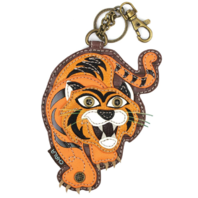 Chala The Tawny Tiger Whimsical Key Chain Coin Purse Bag Fob Charm