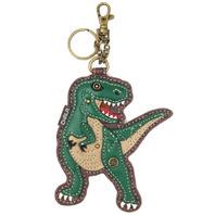 Chala T-Rex TREX Dinosaur Whimsical Key Chain Coin Purse Bag Fob Charm
