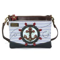 Charming Chala Nautical Anchor Ship Wheel Mini Crossbody Bag Handbag Purse