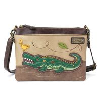 Charming Chala Alligator with Bird Mini Crossbody Bag Handbag Purse
