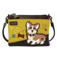 Charming Chala Corgi Puppy Dog Crossbody Bag Handbag Purse