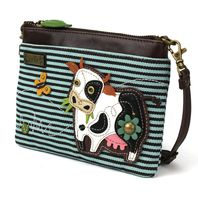 Charming Chala Moo Cow with Butterfly Crossbody Bag Handbag Purse