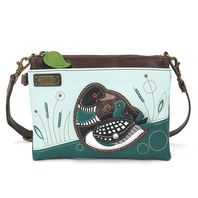 Charming Chala Loon Duck with Baby Bird Mini Crossbody Bag Handbag Purse