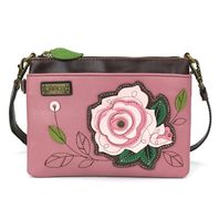 Charming Chala Romantic Rose Crossbody Bag Handbag Purse