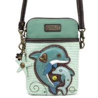 Charming Chala Dolphin Pair Cell Phone Purse Mini Crossbody Bag