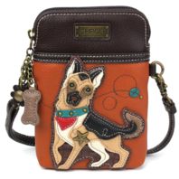 Charming Chala German Shepherd Dog Cell Phone Purse Mini Crossbody Bag