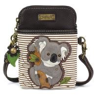 Charming Chala Koala Bear with Bamboo Cell Phone Purse Mini Crossbody Bag