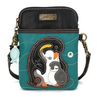 Charming Chala Penguin and Baby Cell Phone Purse Mini Crossbody Bag