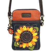 Charming Chala Sun Flower Sunflower Cell Phone Purse Mini Crossbody Bag