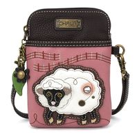 Charming Chala Pink Little Sheep Cell Phone Purse Mini Crossbody Bag