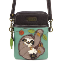 Charming Chala Silly Sloth Cell Phone Purse Mini Crossbody Bag