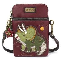 Charming Chala Triceratops Dinosaur Cell Phone Purse Mini Crossbody Bag