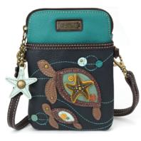 Charming Chala Twin Turtles Cell Phone Purse Mini Crossbody Bag