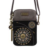 Charming Chala Black Beaded Cell Phone Purse Mini Crossbody Bag