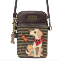 Charming Chala Puppy Dog Yellow Lab Cell Phone Purse Mini Crossbody Bag