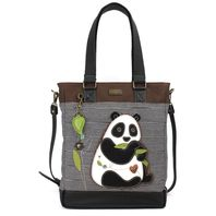 Charming Chala Purse Handbag Leather & Canvas Work Tote Bag Hungry Panda