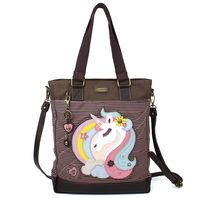 Charming Chala Purse Handbag Leather & Canvas Work Tote Bag Magical Unicorn