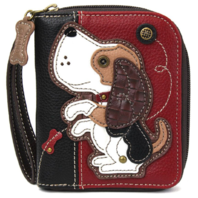 Charming Chala Beagle Puppy Dog Purse Wallet Credit Cards Coins Wristlet