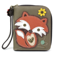 Charming Chala New Foxy Fox Purse Wallet Credit Card Coins Wristlet