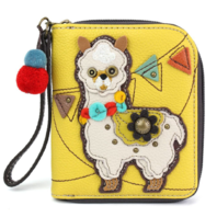 Charming Chala Llama Purse Wallet Credit Card Coins Wristlet