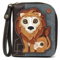 Charming Chala Lovely Lion Purse Wallet Credit Cards Coins Wristlet