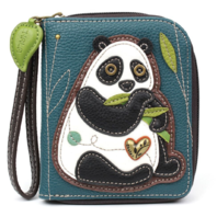 Charming Chala New Panda Bear Purse Wallet Credit Card Coins Wristlet