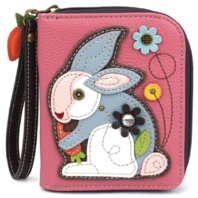Charming Chala Bunny Rabbit Purse Wallet Credit Cards Coins Wristlet