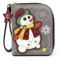 Charming Chala Frosty Snowman Purse Wallet Credit Card Coins Wristlet