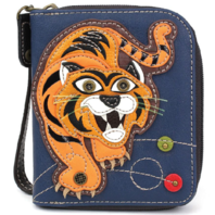 Charming Chala Fierce Tiger Purse Wallet Credit Cards Coins Wristlet