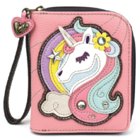 Charming Chala Mystical Unicorn Purse Wallet Credit Cards Coins Wristlet
