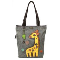 Chala Purse Handbag Everyday Zip Tote II Gentile Giraffe Faux Leather
