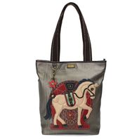 Chala Purse Handbag Everyday Zip Tote II Equestrian Horse Lover Faux Leather