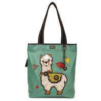 Chala Purse Handbag Everyday Zip Tote II Festive Little Llama Faux Leather