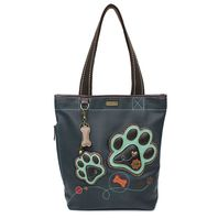 Chala Purse Handbag Everyday Zip Tote II Paw Print Faux Leather