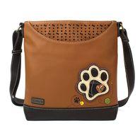 Chala Paw Print Camel Brown Sweet Messenger Bag Purse Handbag