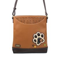 Chala Paw Print Camel Brown Sweet Messenger Bag Purse Handbag