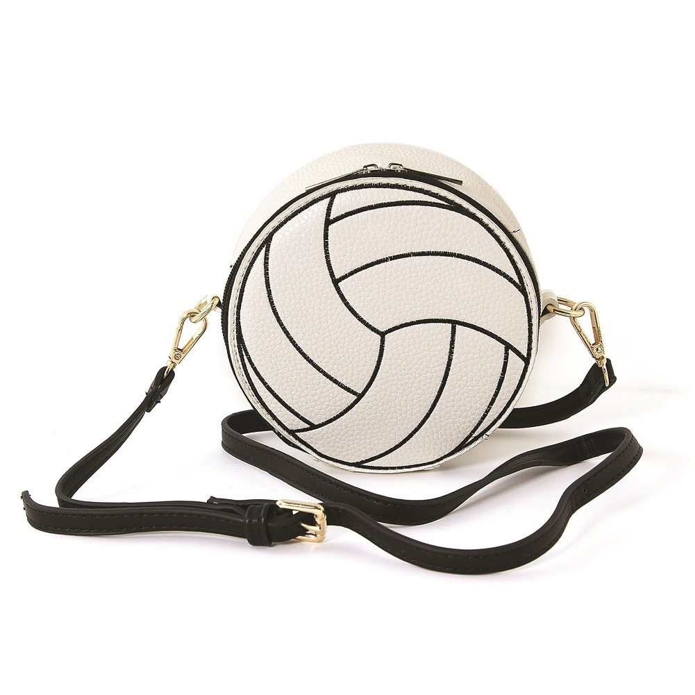 Sleepyville Critters Volleyball Sports XBody Crossbody Bag in Vinyl Material