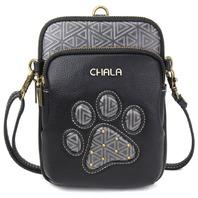 Charming Chala Cell Phone Purse Bag Mini Crossbody Detailed Paw Print Design